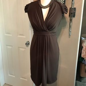 Calvin Klein size 4 sheath dress figure flattering